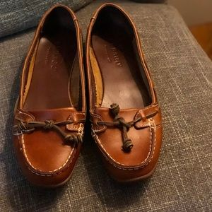 Sebago 90's brown leather loafers 9